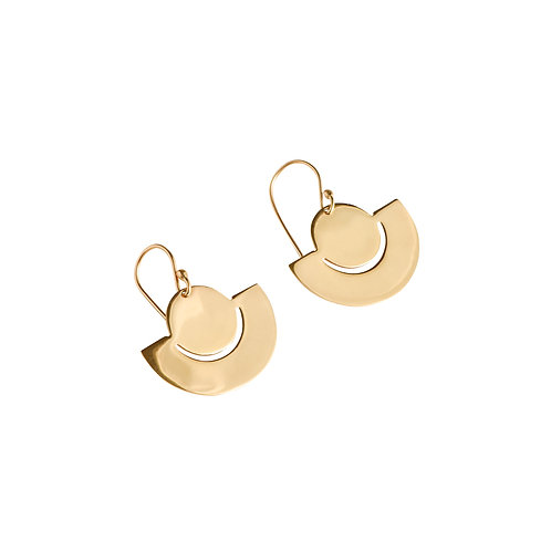 New Moon Earrings small gold