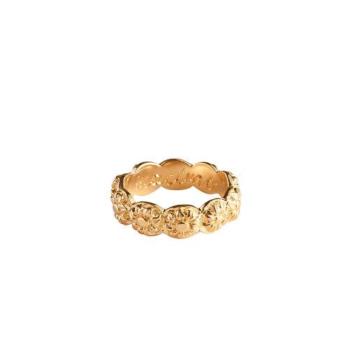 Sunflower Ring gold