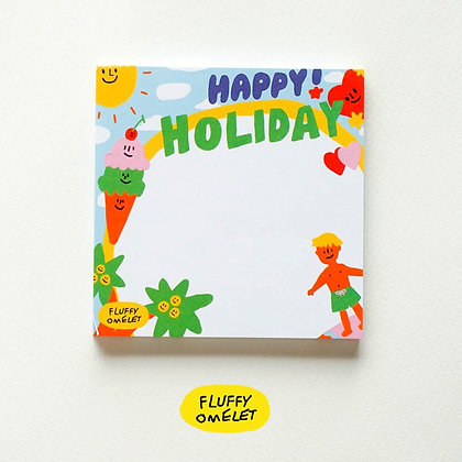 HAPPY HOLIDAY MEMOPAD