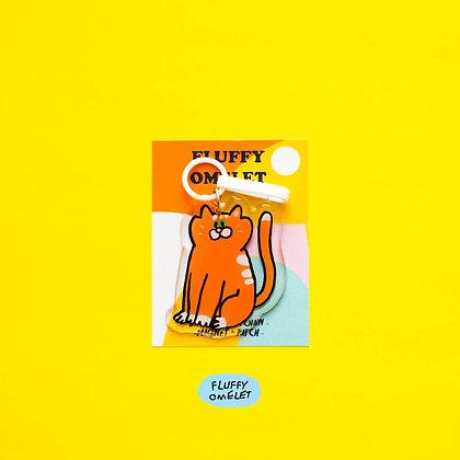 PUMPKIN CAT KEYCHAIN