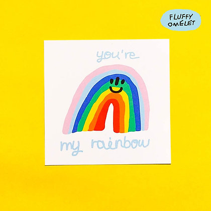 YOU'RE MY RAINBOW MINI CARD