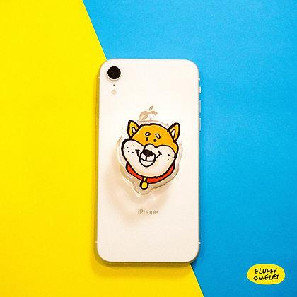 SHIBA DOG MIRROR PHONE GRIP