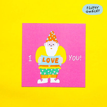 I LOVE YOU MINI CARD
