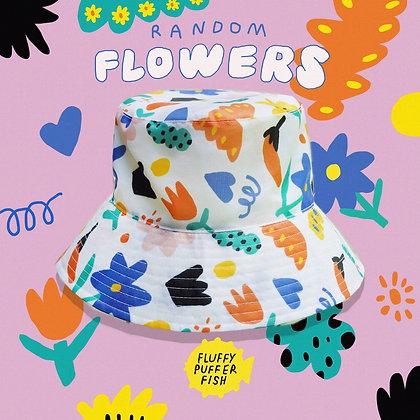 RANDOM FLOWERS BUCKET HAT