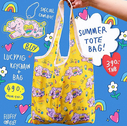 LUCY PIG TOTEBAG