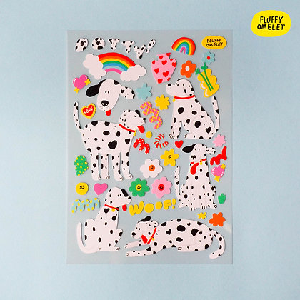 DOTTY DOG PREMIUM STICKER