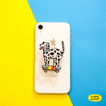 DALMATIAN MIRROR PHONE GRIP
