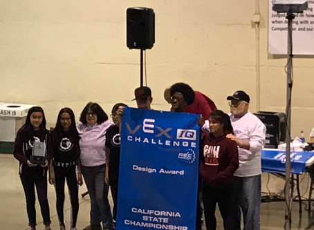 BACK-TO-BACK VEX ROBOTICS DESIGN CALIFORNIA STATE CHAMPIONS!