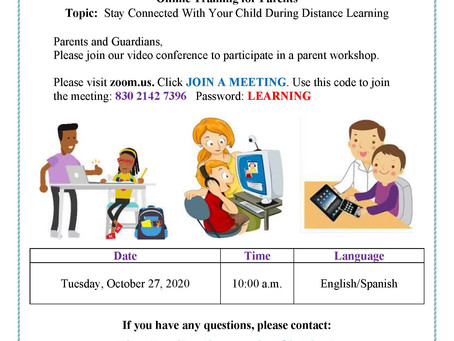 Parent Training - Distance Learning