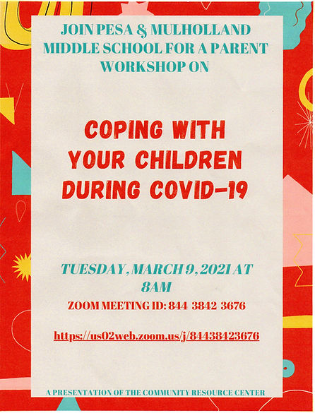 PESA Parent Workshop Coping with your Ch
