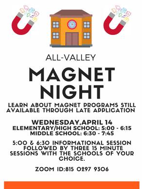 VALLEY MAGNET NIGHT - 4/14/2021