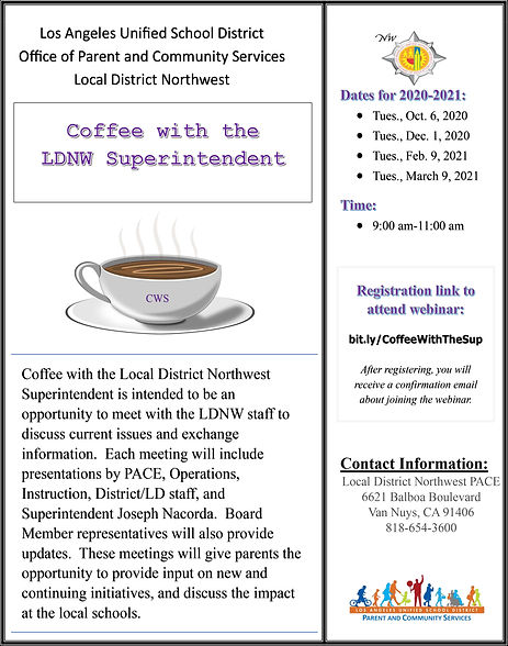 Coffee with the Superintendent -Flyers 2