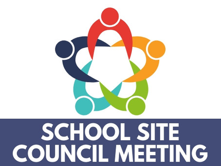 School Site Council Meeting 11/12/20