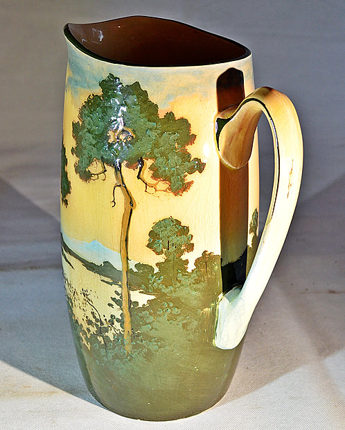 Early 20th Century, Large Royal Doulton Art Nouveau Jug with Landscape design
