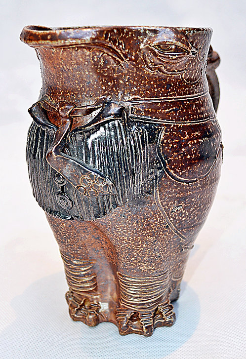 Brown Glaze Owl Jug in the Martin Brothers' Style