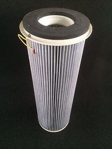 cartride filter with aluminium coating and anti static protection