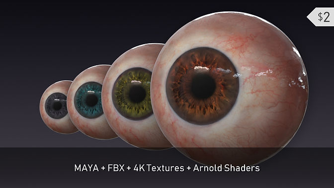 Realistic Eye with Arnold Shaders