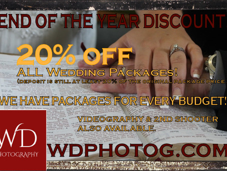 END OF YEAR DISCOUNT!