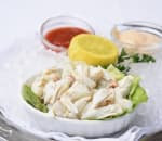 Lump crab with cocktail sauce and remoulade