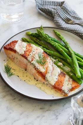 Salmon Dijonnaise for Two