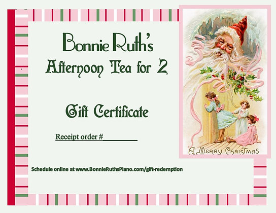 Tea for Two Gift Certificate