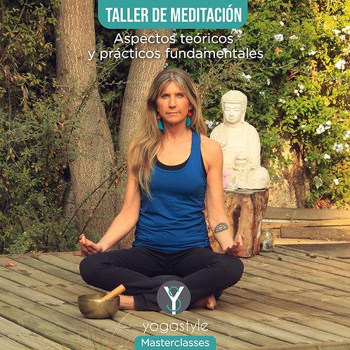 MASTERCLASS ASPECTOS PRÁCTICOS Y TEÓRICOS DE LA MEDITACIÓN -JUEVES 16 ABRIL