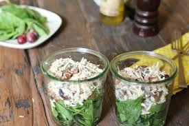 Chicken Pecan Salad with Crostini and Crackers