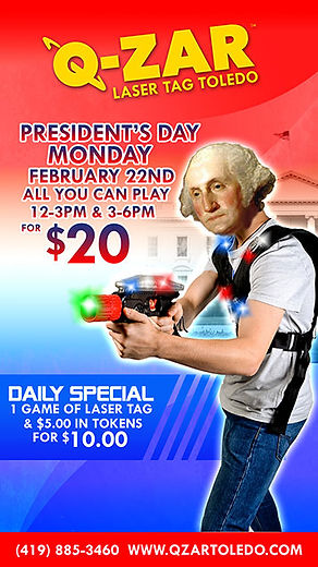 Q-Zar Presidents Day