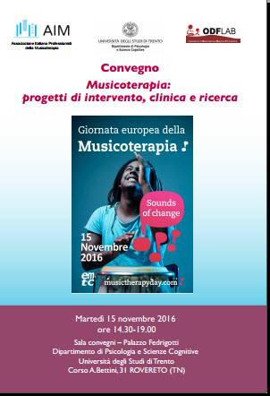 Giornata europea Musicoterapia