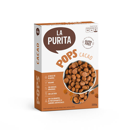 Cereal POPS Cacao 200g