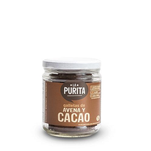 Frasco de Galletas de Avena y Cacao 130g