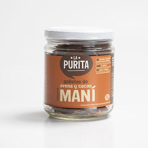 Galletas de avena y cacao rellenas de mani 200g