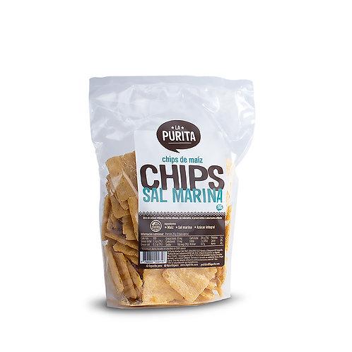 Chips de Maíz y Sal Marina 200g