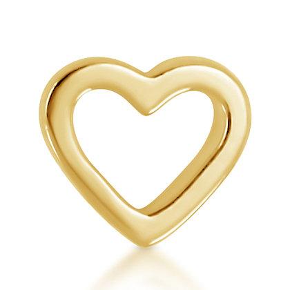 14k Yellow Open Heart