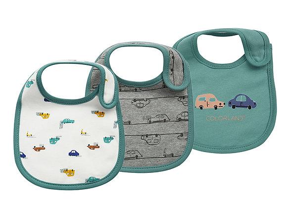 Babycare Colorland water proof Baby Bibs (3 pieces packed) OEKO-TEX certifie