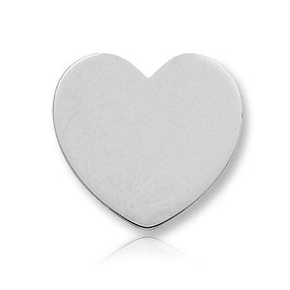 14k White Heart