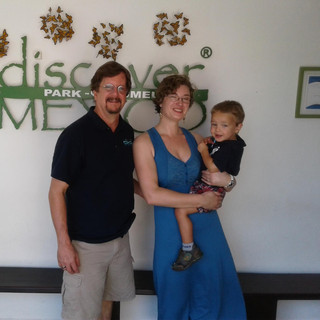 With wife, Lindsey, and son Byron in Coz