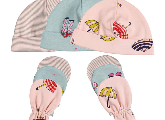 Babycare Colorland New born HAT and Glove set (2 set Packed)