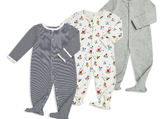 Colorland Dylan Long Sleeve Baby Rompers