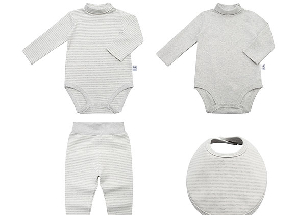 Babycare Colorland OEKO-TEX certified Dylan Winter Set Rompers (4 pieces set)