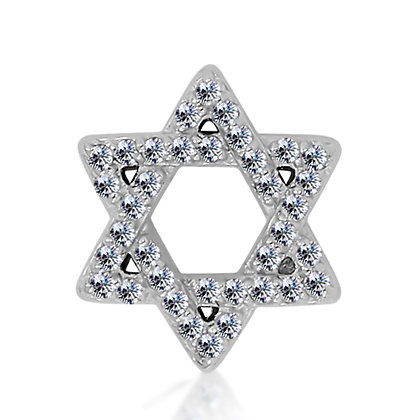14k White Diamond Star