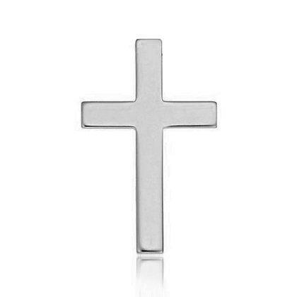 14k White Cross