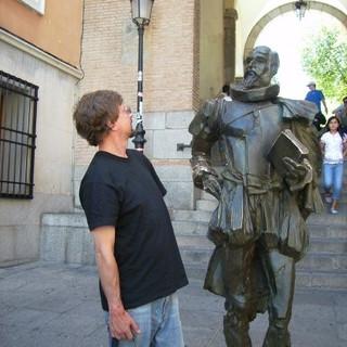 Facing Cervantes, Toledo, Spain