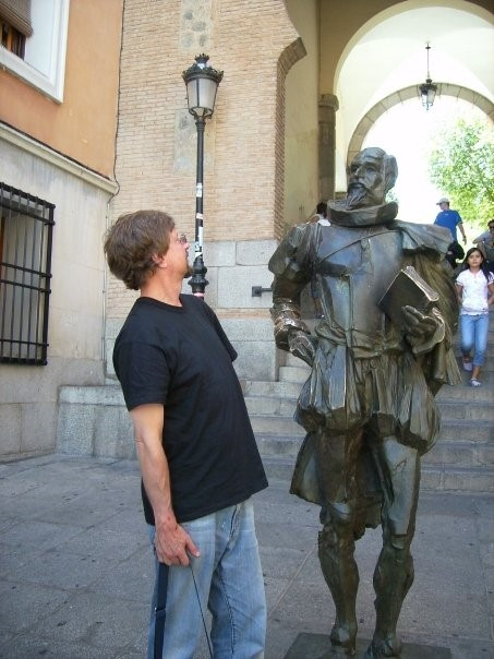 Facing Cervantes, Toledo, Spain