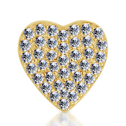 14k Yellow Diamond Heart