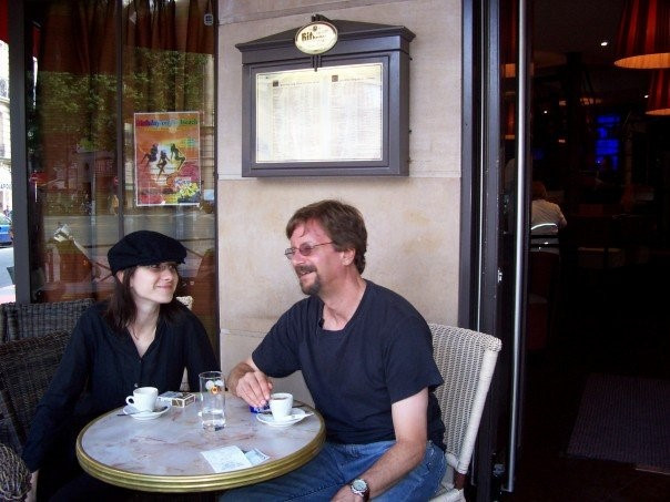 Lunching with an old student, Paris