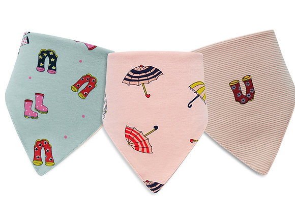 Babycare Colorland Triangle Baby Bibs (3 pieces set) OEKO-TEX certified