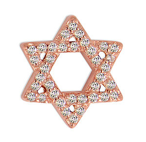 14k Rose Diamond Star