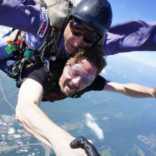 Skydiving over the Poconos
