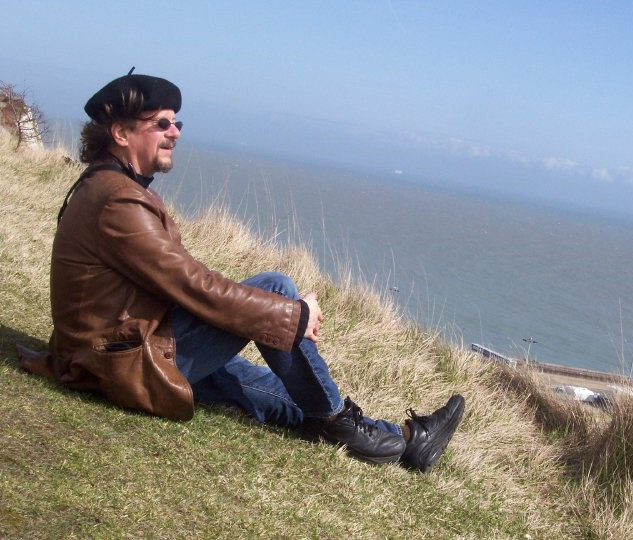 Enjoying the wind at Dover, England